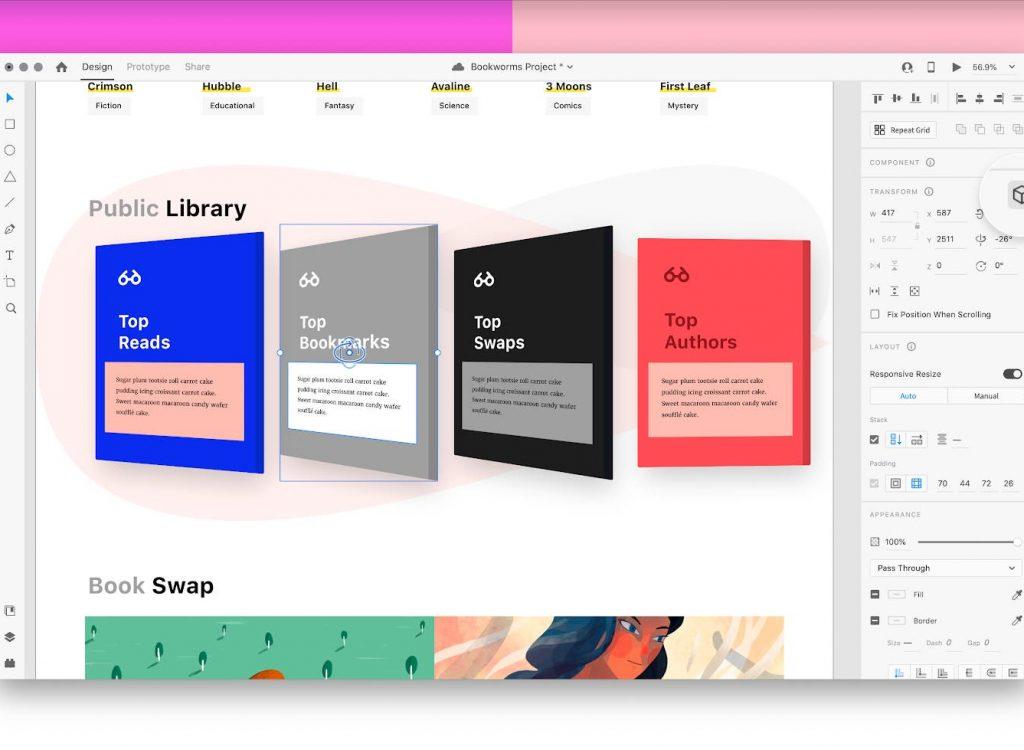 3D Transform, Design System, toutes les nouveautés XD à la Adobe MAX 2020